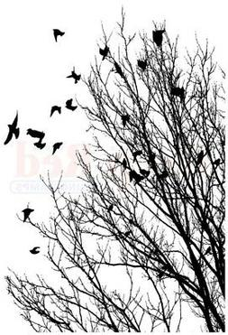 Deep Red Cling Stamp 2X3-Raven Flock