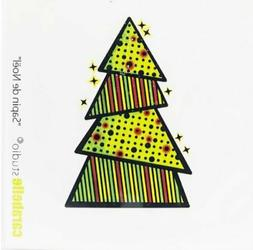 Carabelle Studio - Cling Rubber Art Stamps - Christmas Tree
