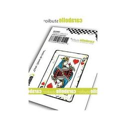 Carabelle Studio - Cling Rubber Art Stamps - Playing Cards -