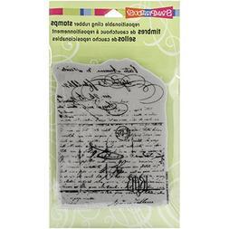 Stampendous Cling Rubber Stamp, Vintage Letter