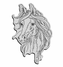 Stampendous - Cling Rubber Stamp - Animals - Horse Portrait