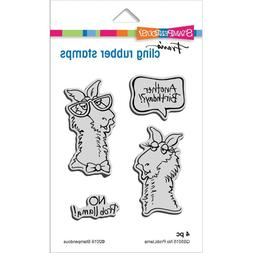 Stampendous Cling Rubber Stamp Set No Probllama Llama Birthd