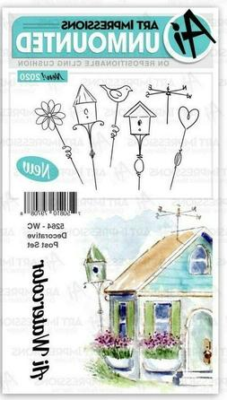 Art Impressions Cling Rubber Stamp Set Watercolor Decorative