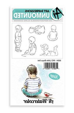 Art Impressions Cling Rubber Stamp Set Watercolor Little Boy