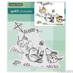 """Penny Black Cling Rubber Stamp 5""""X5"""" Sheet-Furry Flight"""