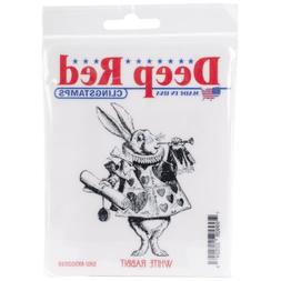 Deep Red Cling Stamp-White Rabbit