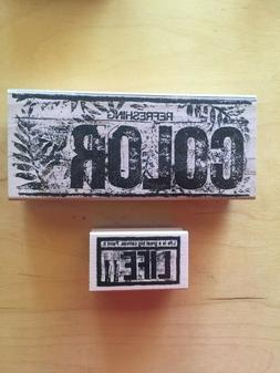 Club Stamp Wood Mounted Rubber Stamps - Arts, Painting, Colo