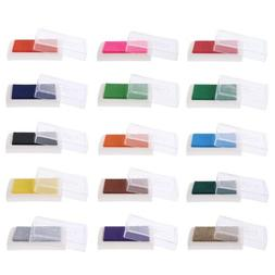 Colorful Oil Ink Pad Rubber Stamp Partner Craft DIY Scrapboo