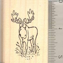 Comic Moose rubber stamp G10915 WM