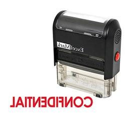 CONFIDENTIAL Self Inking Rubber Stamp - Red Ink