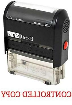 CONTROLLED COPY Self Inking Rubber Stamp - Red Ink
