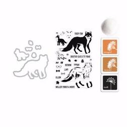"""Hero Arts """"Cool Fox"""" Stamps + Frame Cuts Dies + Ink Pads + E"""