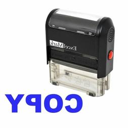 COPY - ExcelMark Self-Inking Rubber Stamp - A1539 Blue Ink