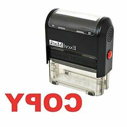 ExcelMark Copy Self Inking Rubber Stamp - Red Ink