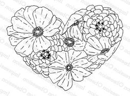 Cosmo Heart, Wood Mounted Rubber Stamp IMPRESSION OBSESSION