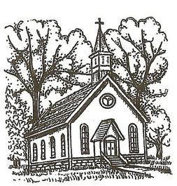 Country Church Small Wood Mounted Rubber Stamp NORTHWOODS C1