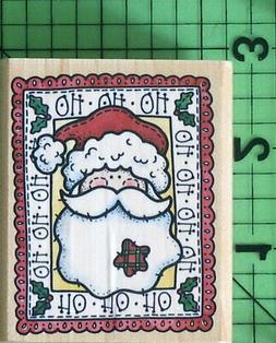 Country Santa Portrait A1443E rubber stamp by Rubber Stamped