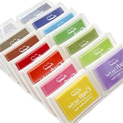 Miraclekoo Craft Ink Pad Stamps Partner Rainbow Set of 6 DIY