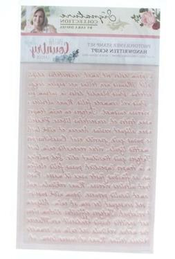 Crafter's Companion Clear Cling Rubber Stamp Handwritten Scr