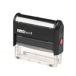ExcelMark Custom 1 Line Self Inking Rubber Stamp - Home or O