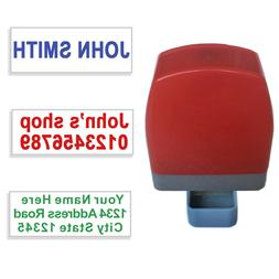 custom name address self inking rubber stamp