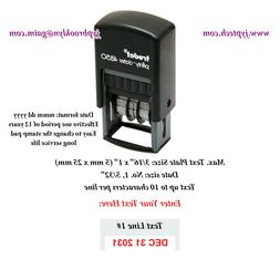 Custom One Line Message w. Date Trodat 4850 Self-inking Rubb