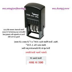 Custom One Line Message w. Date Trodat 4850 Self-inking Rubb