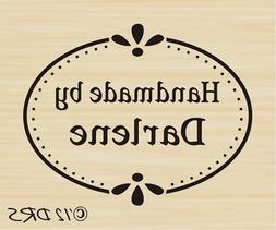 Custom Oval Handmade By Rubber Stamp by DRS Designs Rubber S