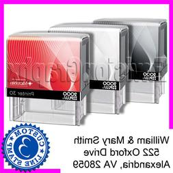Custom Personalized 3 LINE ADDRESS Self Inking Rubber Stamp