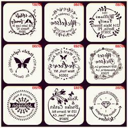 Custom Rubber Stamp Self Inking Business Family Return Addre
