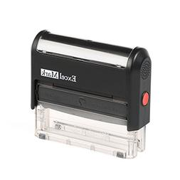 ExcelMark Custom Self Inking Rubber Stamp - Home or Office