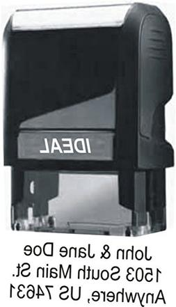 Custom Self Inking Rubber Stamp - Up to 4 Lines of Text - Fo