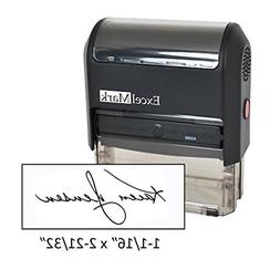 Custom Signature Stamp - Self Inking - Black Ink - Extra Lar
