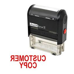 CUSTOMER COPY Self Inking Rubber Stamp - Red Ink