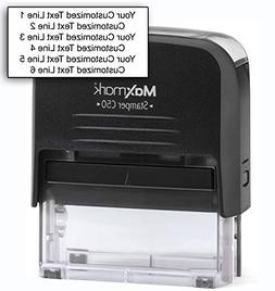 MaxMark Customized Self Inking Stamp - Up to six lines of te