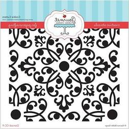 Gourmet Rubber Stamps Damask Stencil, 6 x 6