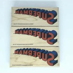 """DC COMIC SUPERMAN Rubber Stamp Wood Mounted 3 1/2"""" NEW"""