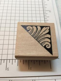 Decorative Corner Rubber Stamp By Paper Parachute