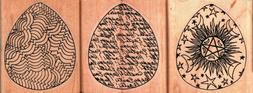 Rubber Tree Stamps ~ DECORATIVE EGGS ~ Wood Mounted Rubber S
