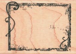 Hampton Art ~ DECORATIVE FRAME ~ Wood Mounted Rubber Stamp V
