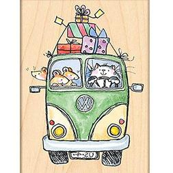 Penny Black Decorative Rubber Stamps, Party Bus