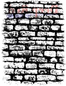 Deep Red Cling Rubber Stamp Rubber Stamp Stone Brick Wall Ba