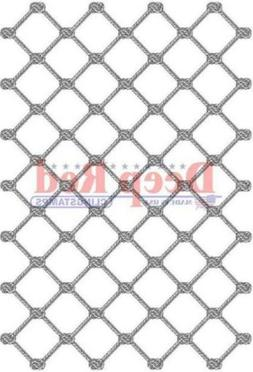 Deep Red Rubber Stamp Fishing Net Background Knotted Netting
