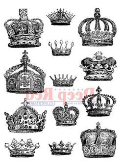 Deep Red Rubber Stamp Royal Crown Collection