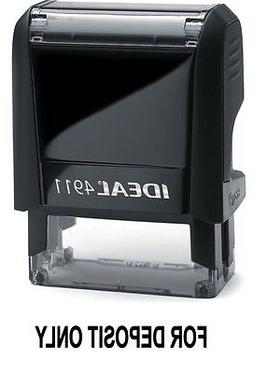 FOR DEPOSIT ONLY text on an IDEAL 4911 Self-inking Rubber St