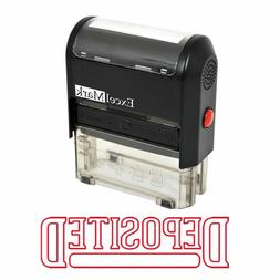 DEPOSITED - ExcelMark Self Inking Rubber Stamp A1539 - Red I