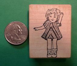 Dimples, Shirley Temple Doll, Wood Mounted Rubber Stamp