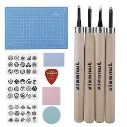 DIY Craft Rubber Stamp Block Kit W/ Ink Pad Pattern Paper Ca