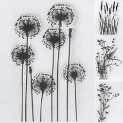 DIY Flower & Grass Transparent Silicone Clear Rubber Stamp S
