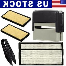 DIY Personalised Self-Inking Rubber Stamp Kit Customized Bus